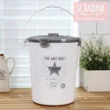 스칸디나 밀폐형 음식물쓰레기통(4.5L)스타