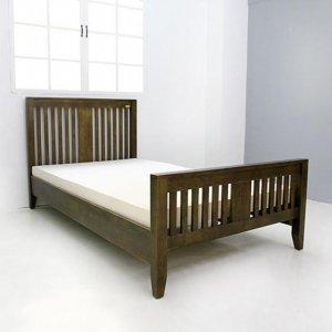 고무나무 코퍼 라인 슈퍼싱글 침대