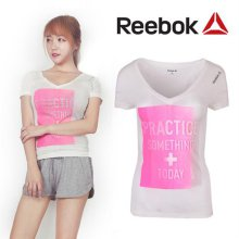 [QR코드인증]리복 여성 YOGA COM/플레이드라이/요가 반팔 티셔츠-Z93432 S