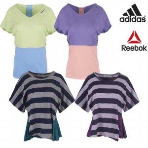 [QR코드인증]아디다스 리복 여성  요가 반팔 티셔츠/일본매장판-4종택1
