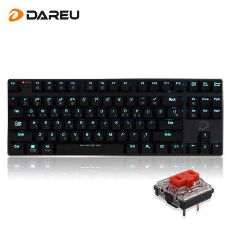 EK820 블루투스 겸용 슬림 LED 기계식 키보드 (적축)
