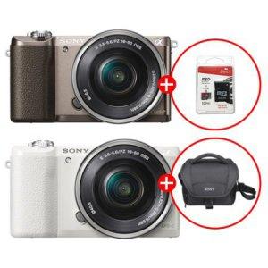 미러리스 카메라 알파 A5100 [ 티탄 / 화이트 ][ 본체 + 16-50mm / 가방 증정 ]