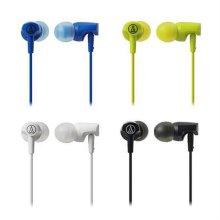 이어폰 ATH-CLR100IS/BK [ 블랙 / 커널형 이어폰 / 외부소음 차단 / 선명한 사운드 / 편안한 착용감 ]