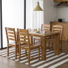 [앤디Ⅰ] 4인 식탁 세트 식탁+의자4ea(브라운)