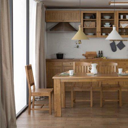 [앤디Ⅰ] 6인 식탁 세트 식탁+의자4ea(브라운)