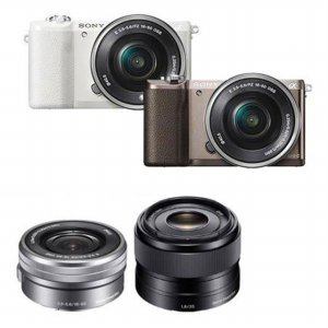 [16GB메모리+가방 증정]미러리스 A5100  더블렌즈 [본체+16-50mm+35mm/색상2종]