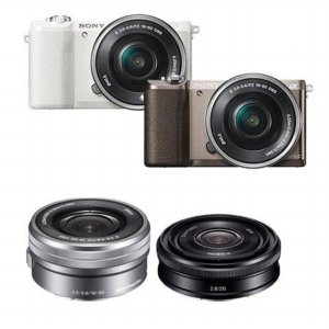 [16GB메모리+가방 증정] A5100 더블렌즈 [화이트 / 티탄 / 본체 + 16-50mm + 20mm]