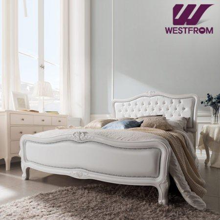 럭셔리앙뜨) 화이트 투매트리스 침대(퀸) / F5 화이트