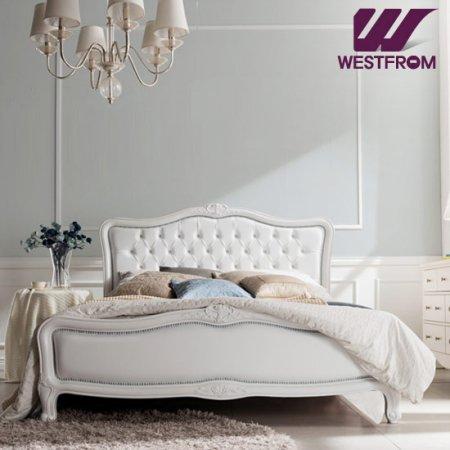 럭셔리앙뜨) 화이트 투매트리스 침대(퀸) / F3 화이트