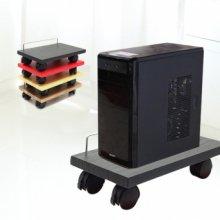 PC 본체받침대 360도 회전바퀴 본체받침대 블랙[OR002]