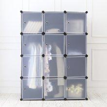 DIY 옷걸이 12D 수납장 (블랙)