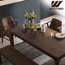 빈티지 브르노) 원목 6인식탁 (식탁, 테이블만) 모카브라운