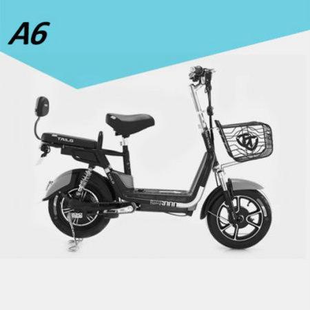 A6 스쿠터형 전기자전거 블랙