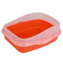 물청소가 쉬운 펫타임 경제형 고양이 화장실 _오렌지
