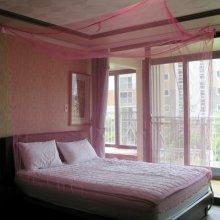 심플 사각 모기장1P(핑크) (대)