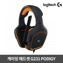 게이밍헤드셋 G231 PODIGY [로지텍코리아정품]