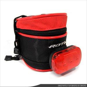 [ROTA] 확장형 안장가방+후방등 세트