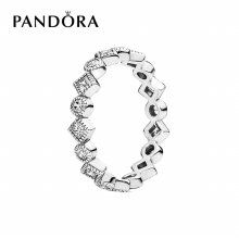 [판도라] 반지 Round and Square Eternity Silver Ring 190943CZ 50