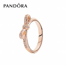 [판도라] 반지 Bow PANDORA Rose Ring 180906CZ 50
