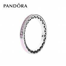 [판도라] 반지 Pink Radiant Hearts of PANDORA Ring 191011PCZ 50