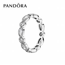 [판도라] 반지 Round and Oval Eternity Silver Ring 190940CZ 50