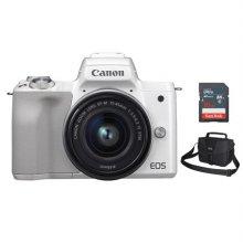 EOS-M50 미러리스 카메라 렌즈KIT[화이트][본체+15-45mm IS STM][사은품]