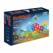 40pcs 맥킨더 자석블럭 클릭블럭 3D - 크리에이티브 세트