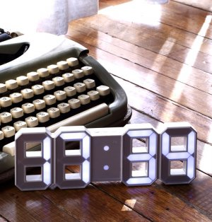 미니 LED 탁상 벽시계