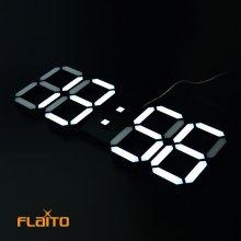 3D LED 벽걸이시계 화이트