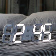 국산 3D LED 벽걸이시계 쿨화이트