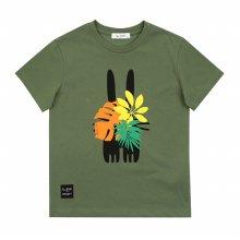 [피터젠슨] 아동 공용 사파리 그래픽 티셔츠 POM12TR68M_KK KK:S