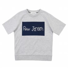 [피터젠슨] 아동 공용 박스 레터 맨투맨 반소매 티셔츠 POM12TM67M_MY MY:S(6세)