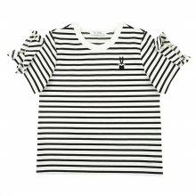 [피터젠슨] 여아 러플 스트라이프 티셔츠 POM11TR81M_BK BK:S(6세)
