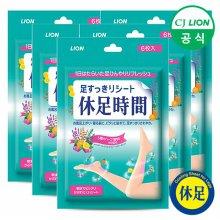 (무료배송)휴족시간 쿨링시트 6매 x 6팩
