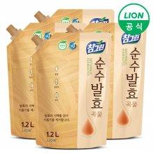 (무료배송)참그린 주방세제 순수발효 곡물 1.2L 리필 4개