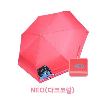 쁘띠 3단우산 HUKTU30009 네오(다크코랄)