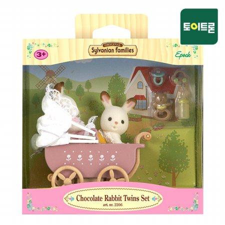 [공식] 5018-초콜릿토끼 쌍둥이와 유모차(2206)