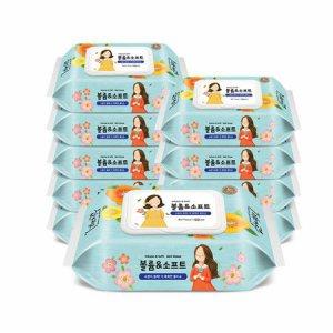 (무료배송)볼륨앤소프트 물티슈 100매 캡형 10팩