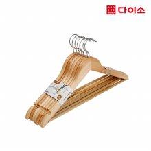 36543_[다이소]고급목재옷걸이7P/SET-1007255