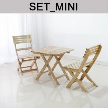 원목 접이식 카페테이블set-MIni