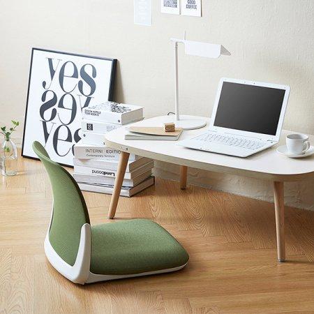 [5%추가쿠폰] [SET] 리다테이블+플리코좌식의자 책상:아이보리+원목다리/의자:블랙