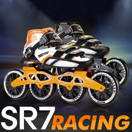 SR7 레이싱 인라인 풀세트/선수용 스피드스케이팅 _블랙옐로우_EU37_228mm