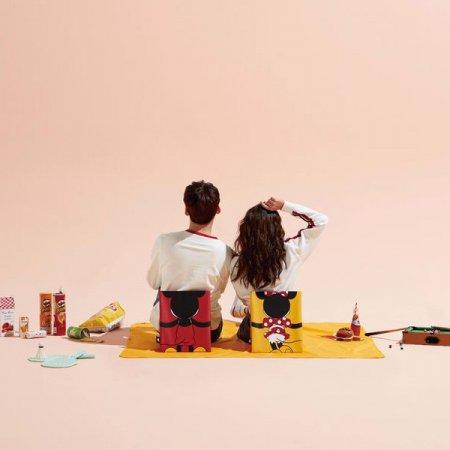 시디즈X디즈니 C300 휴대용 의자 + 돗자리매트 미키_레드