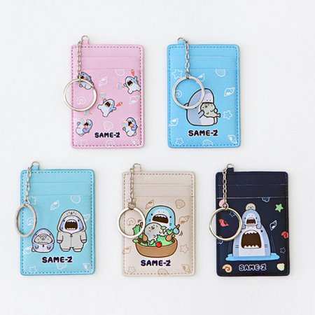 사메즈 교통카드 케이스 [카드케이스/카드포켓/열쇠고리/키링] Blue