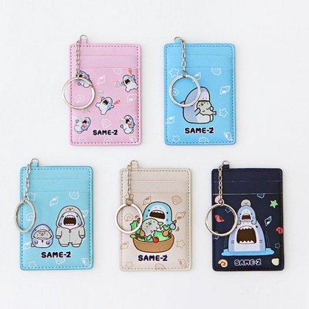 사메즈 교통카드 케이스 [카드케이스/카드포켓/열쇠고리/키링] Ivory