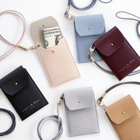 아이코닉 Slit neck card pocket 카드지갑 [넥카드포켓/카드케이스/교통카드/목걸이] Beige