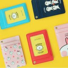 고속토끼 목걸이 카드케이스 [넥카드케이스/카드포켓/교통카드] Pink
