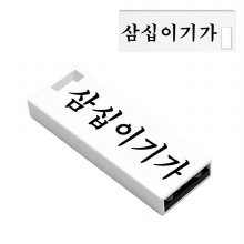 [1+1] 화이트스틱 USB메모리 32G 국산 블랙