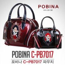 [2018년신제품]포비나 C-PB7017 올에나멜 파우치백 블랙