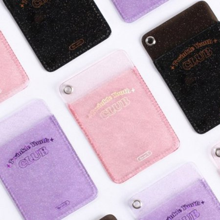 비온뒤 카드월렛 - TWINKLE YOUTH CLUB [카드포켓/교통카드/카드지갑/카드케이스] 2. TWINKLE BLACK:00 PM